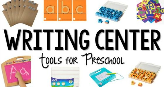 Writing Center Set Up Ideas and Supplies for Preschool