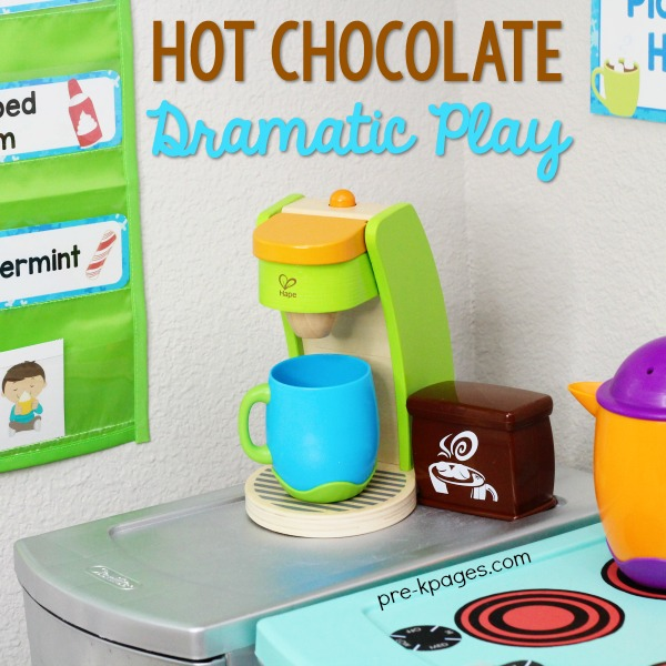 Hot Cocoa Dramatic Play Stand Printables for Pre-K