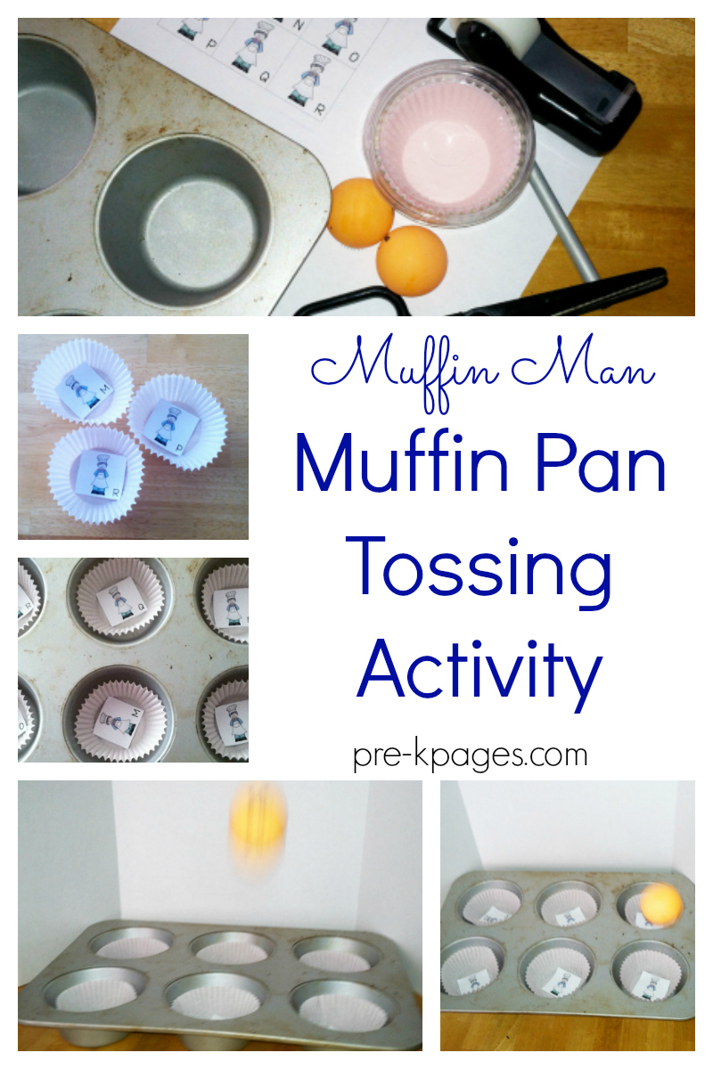 muffin man tossing game for preschool