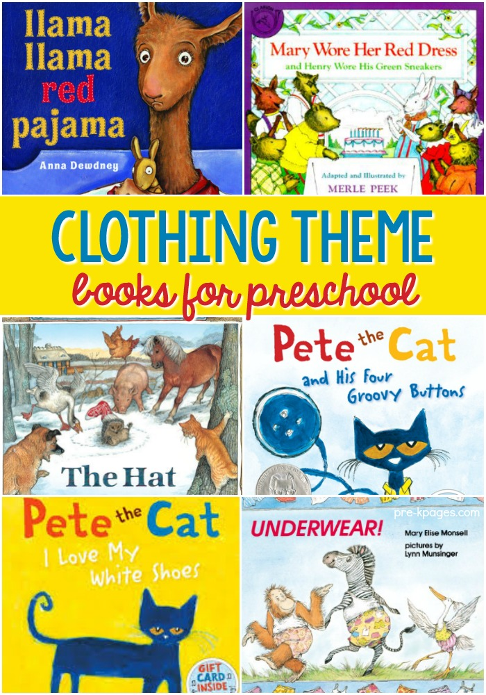 Clothing Study Books for Preschool