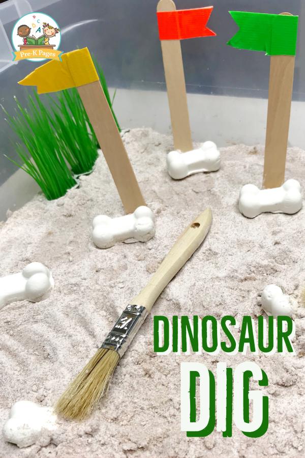 Digging for Dinosaur Bones in Preschool