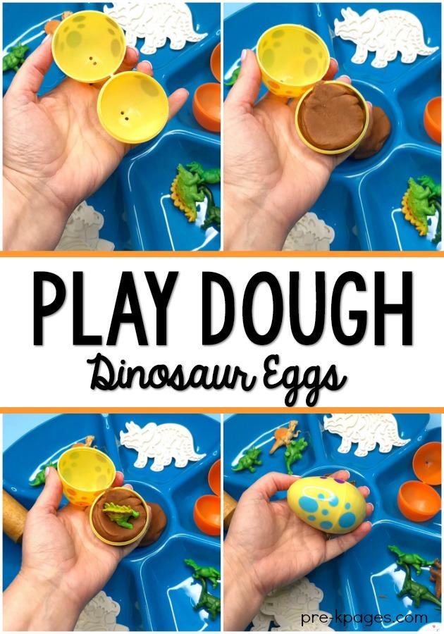 Dinosaur Play Dough Activity