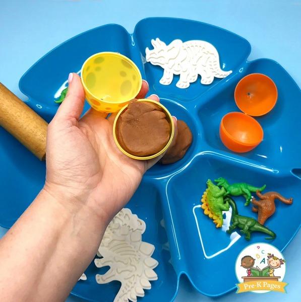 Dinosaur Playdough Activities