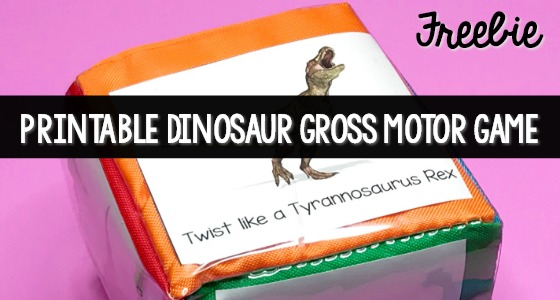 Dinosaur Printable Gross Motor Activity