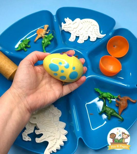 Dinosaur Theme Play Dough Activity for Preschool