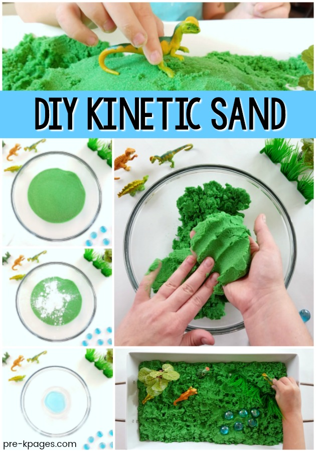 Easy Kinetic Sand Recipe for Preschool