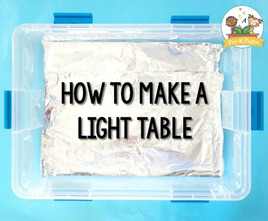 How to Make a Light Table Directions