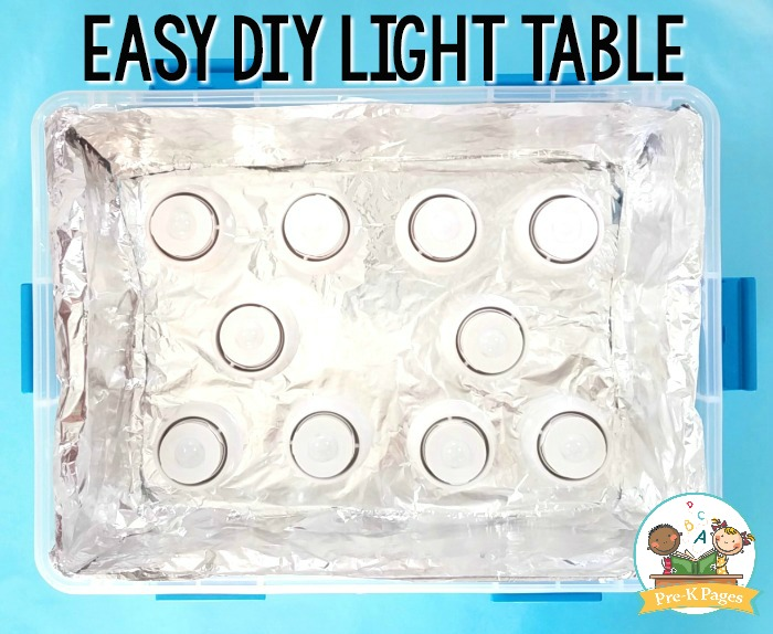 Diy Light Table For Preschool Pre K Pages