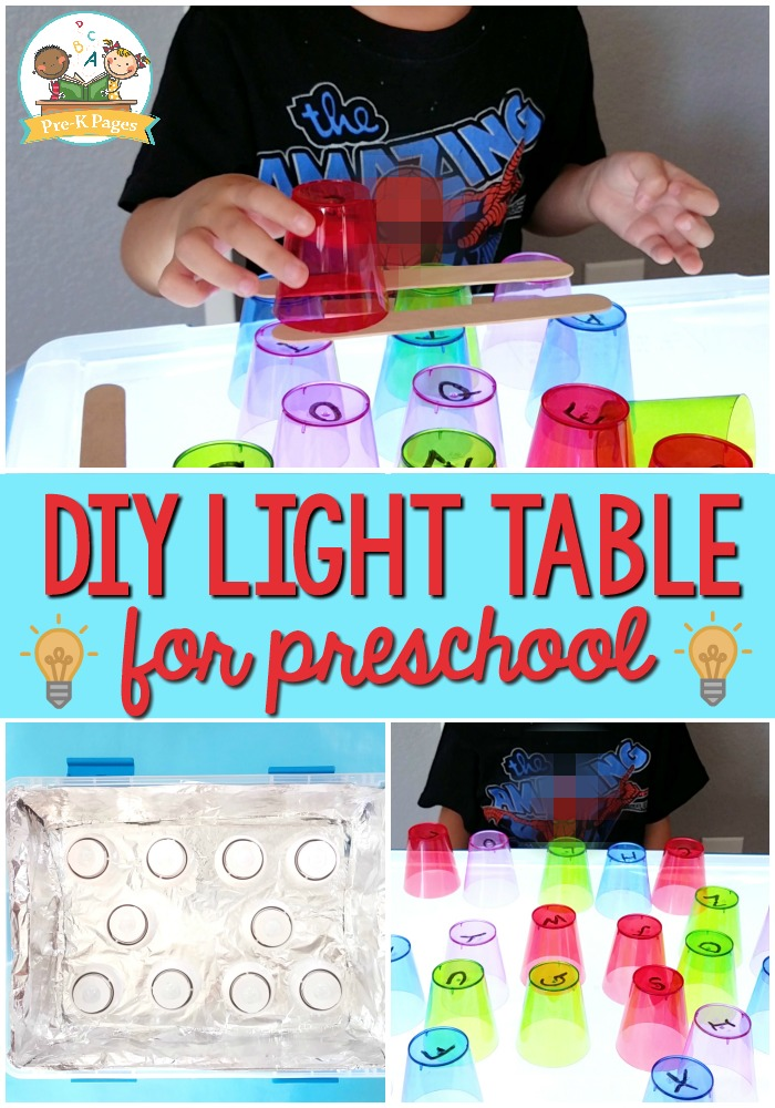 Make Your Own Light Table for Kids