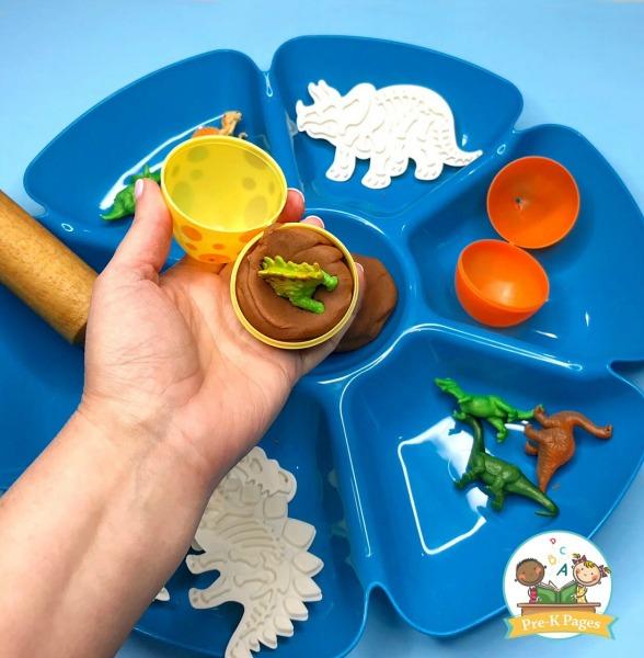 Play Dough Dinosaur Eggs