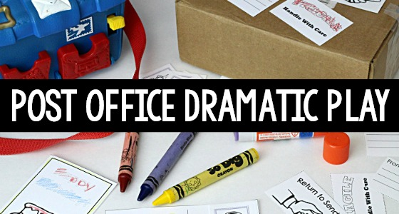 Post Office Dramatic Play Theme for February