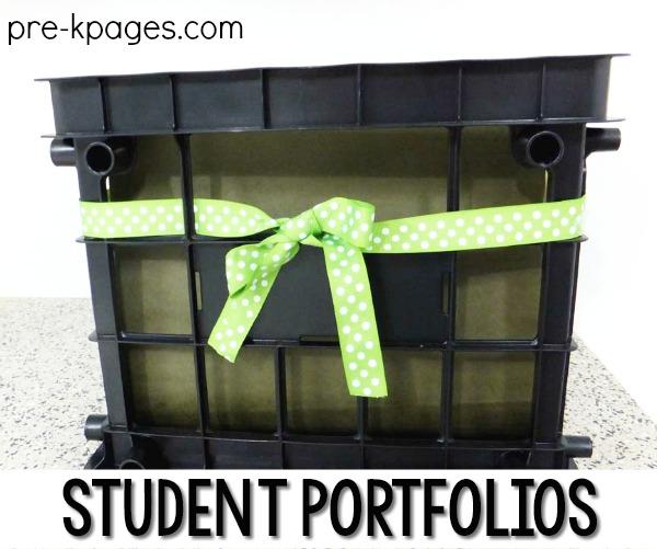 Student Portfolio Storage in File Crate