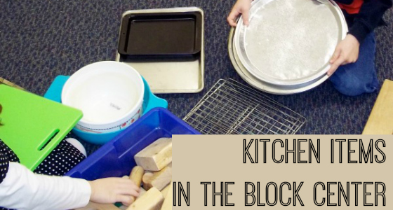 Kitchen Items in the Block Center