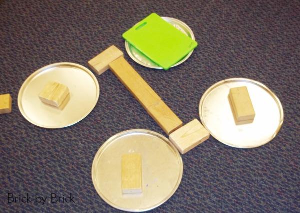 pizza pans and blocks preschool