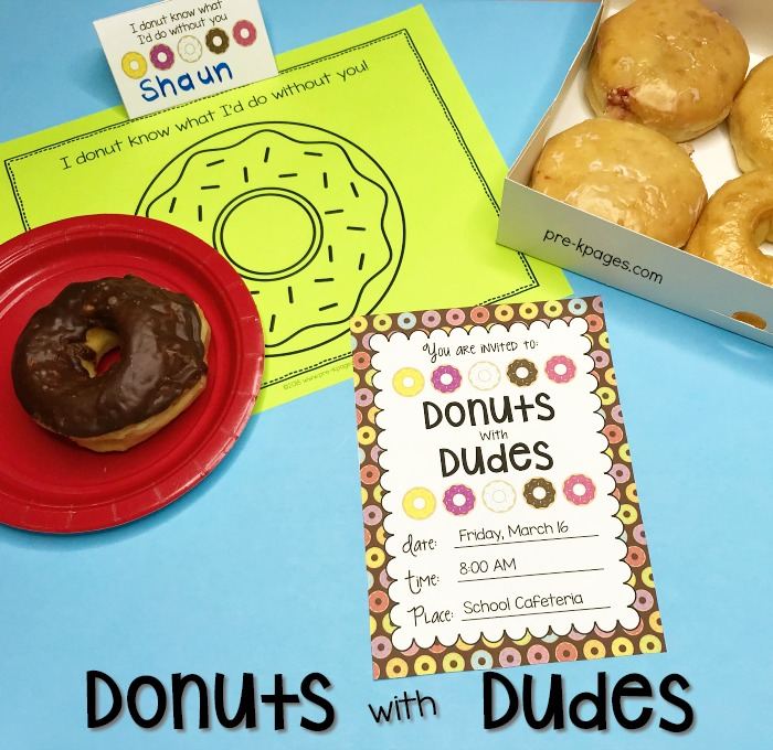 Donuts with Dudes Inviations