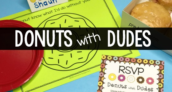 How to Host Donuts with Dad in Preschool