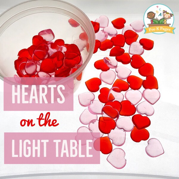 Heart Shapes on the Light Table