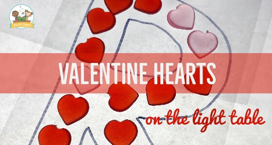 Valentine's Day Light Table Activities