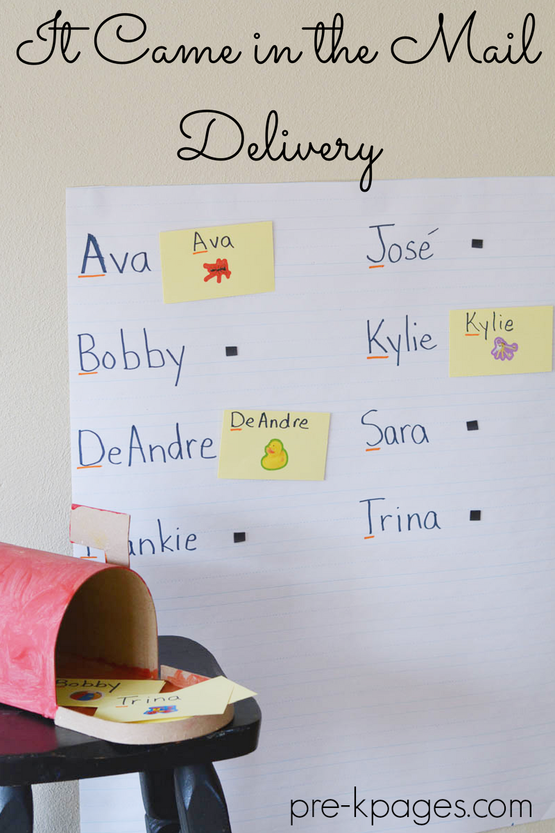 It Came in the Mail Delivery activity pre-k