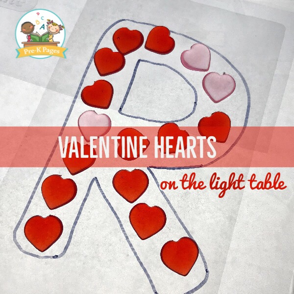 Valentine Heart Letters on the Light Table