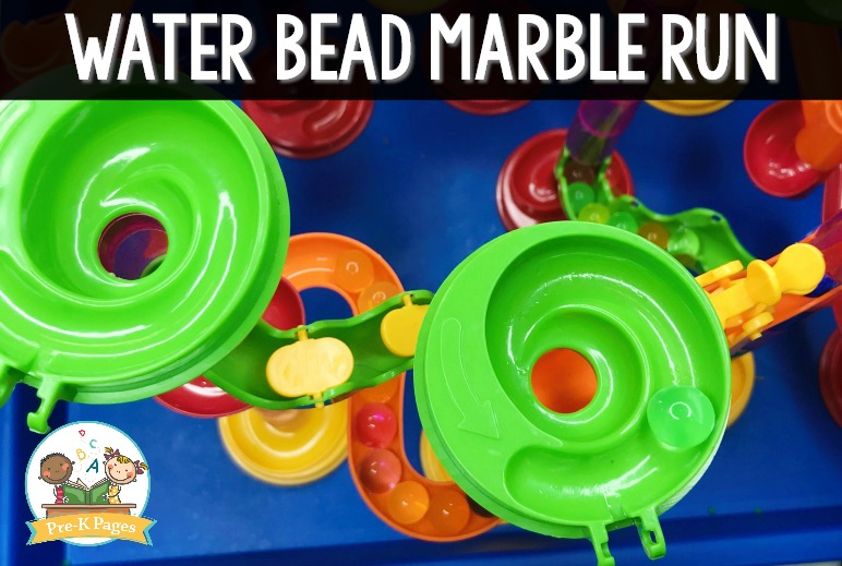 Water Beads in a Marble Run