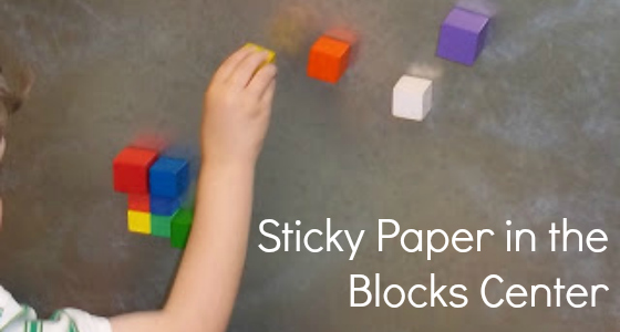 sticky paper block designs preschool