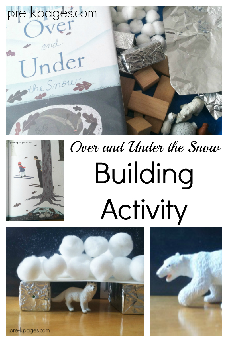 winter book STEM activity for preschool