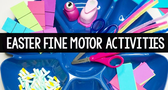 Easter Fine Motor Activities Cutting Practice
