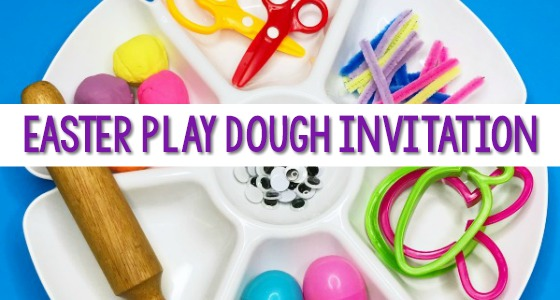 Easter Play Dough Activity for Preschool