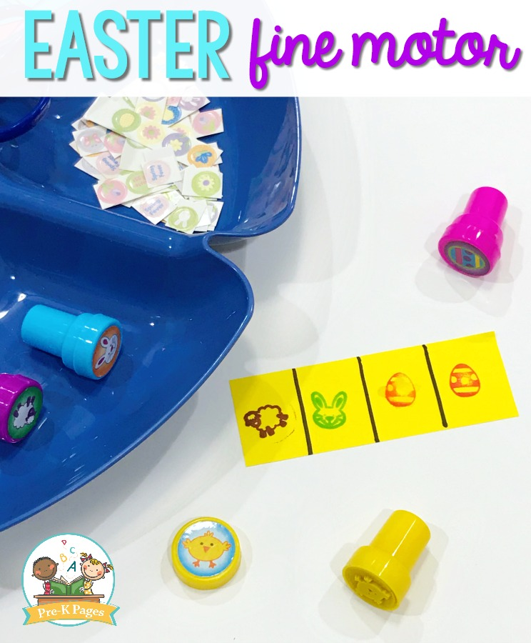 Easter Stamps for Fine Motor Practrice