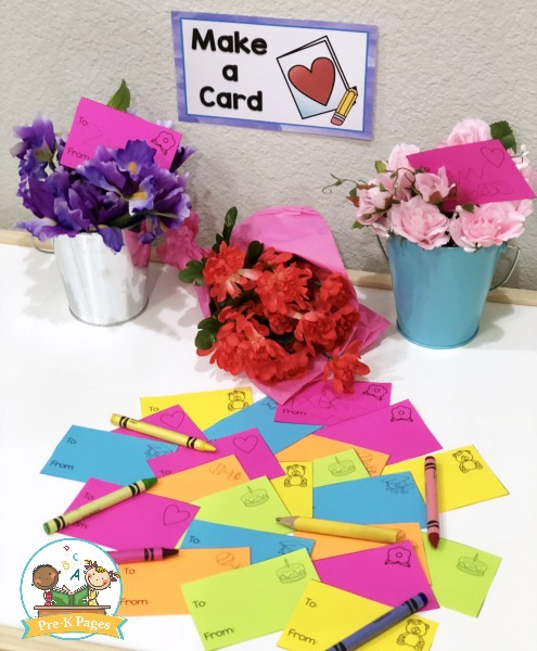 Flower Cards for Pretend Play