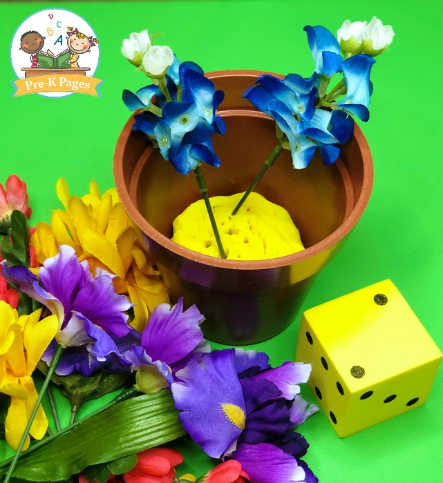 Flower Counting Game for Preschool