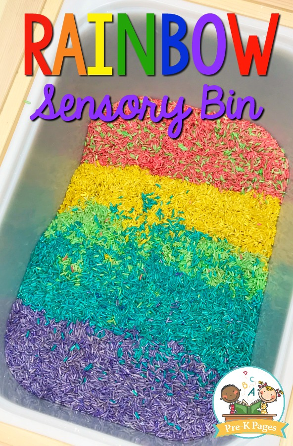 How to Make Rainbow Rice for Sensory Play