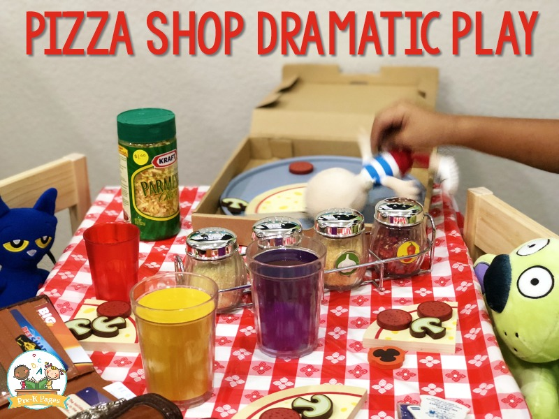 Pizza Shop Theme in the Dramatic Play Center