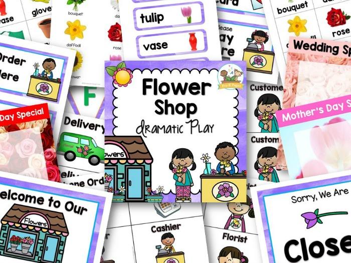 Dramatic Play Flower Shop Theme For Preschool