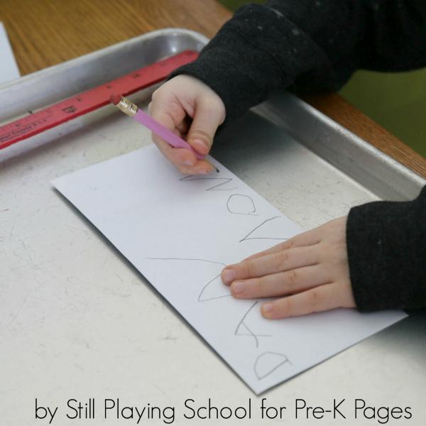 post office writing play preschool