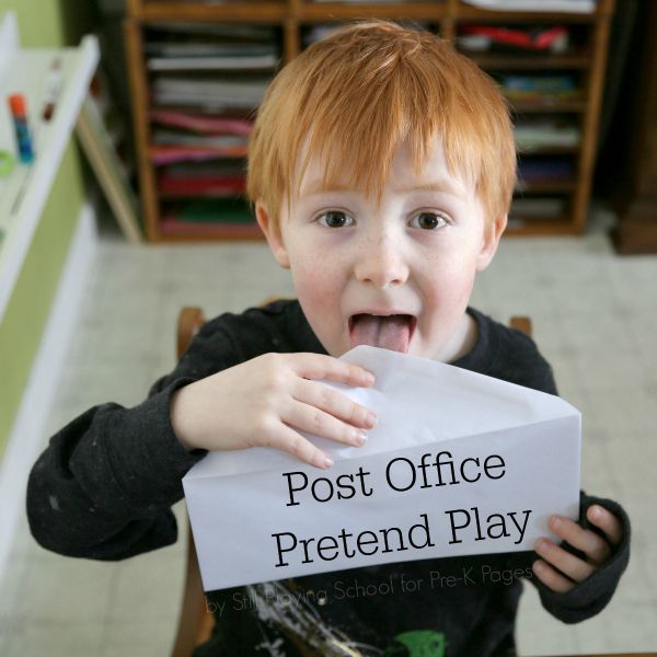 post office pretend play pre-k
