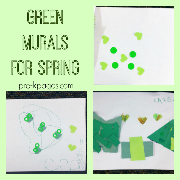 spring green collage pre-k
