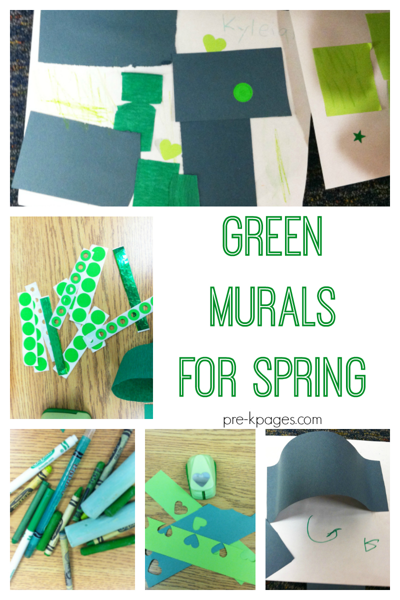 Green Murals for Spring - Pre-K Pages