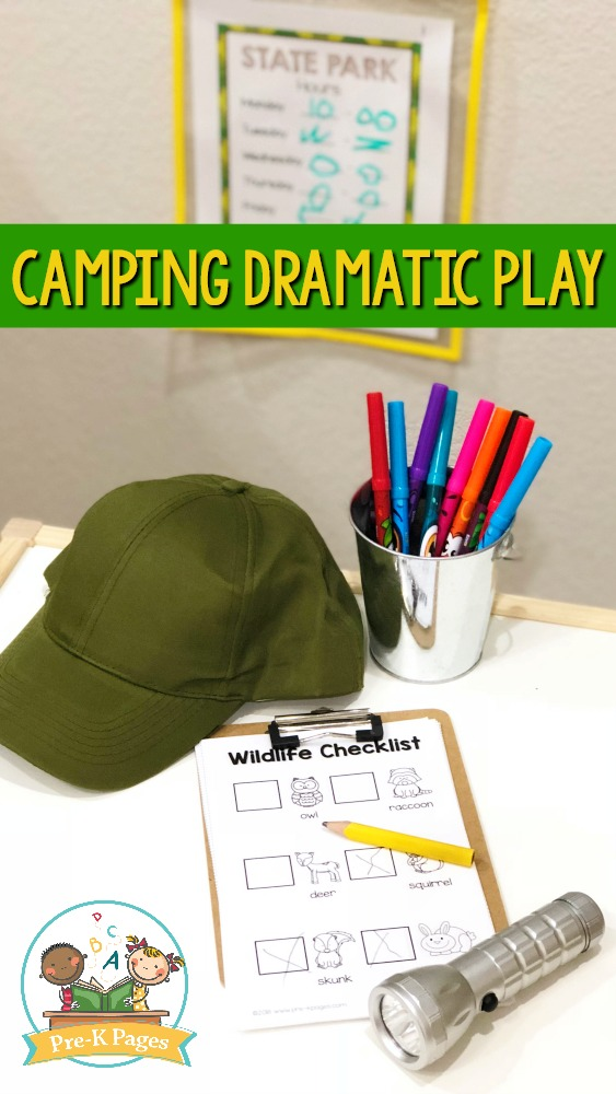 Camping Dramatic Play Printables for Preschool