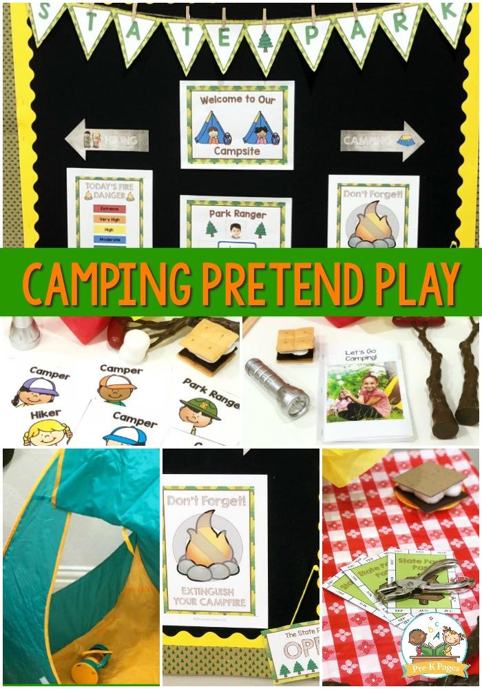 Camping Pretend Play Ideas for Preschool
