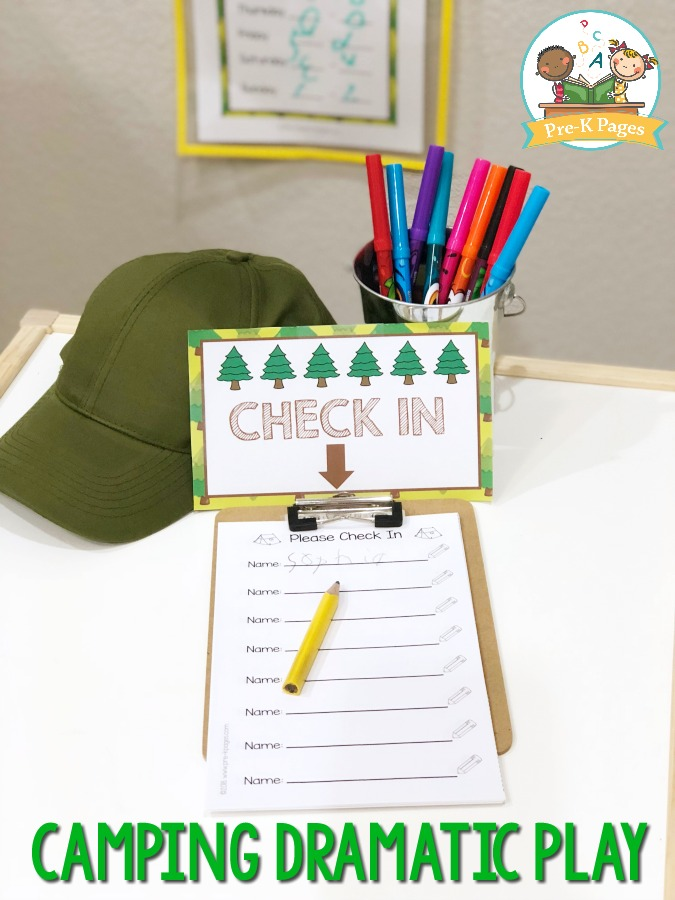 Camping Pretend Play for Preschool