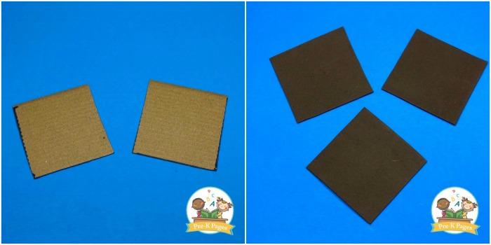 Cardboard Squares for Pretend Smores