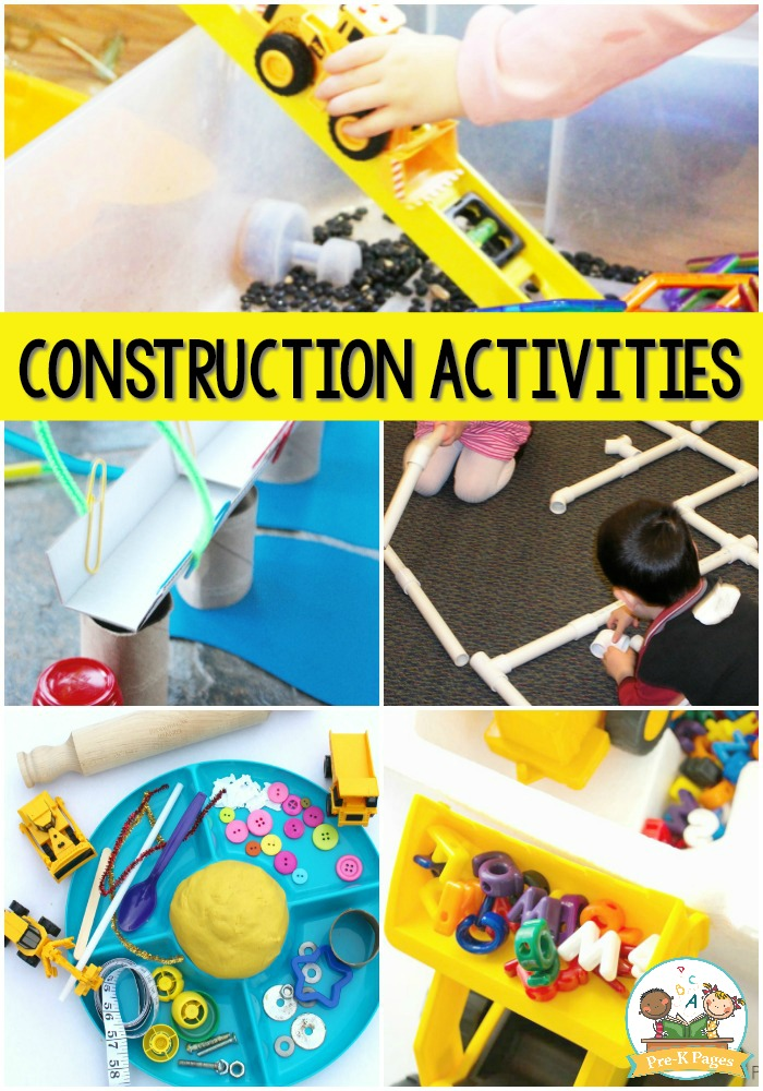 construction themed activities for preschoolers activities for a construction theme pre k pages 506