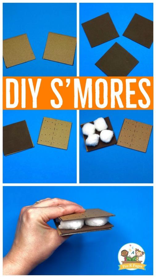DIY Smores for Pretend Play in Preschool