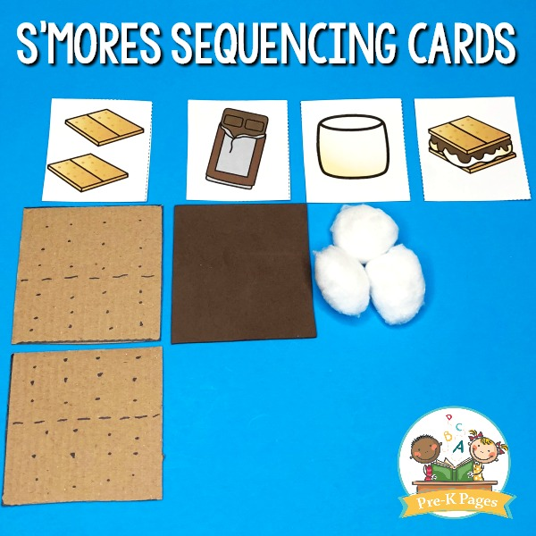 Printable Smores Sequencing Cards