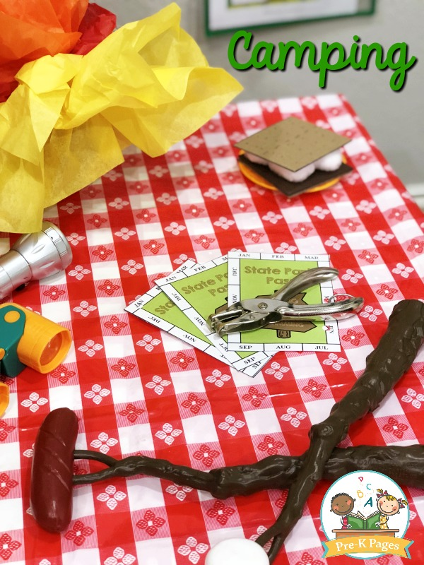 Printable State Park Pass for Pretend Play Camping