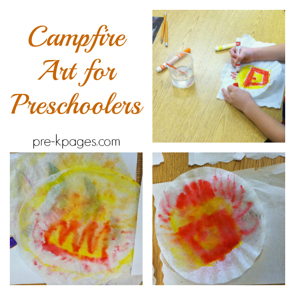 campfire art activity pre-k
