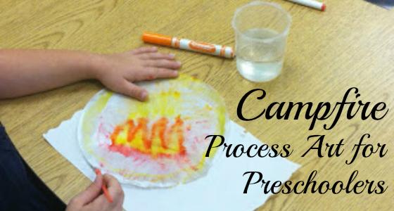 camping art preschoolers
