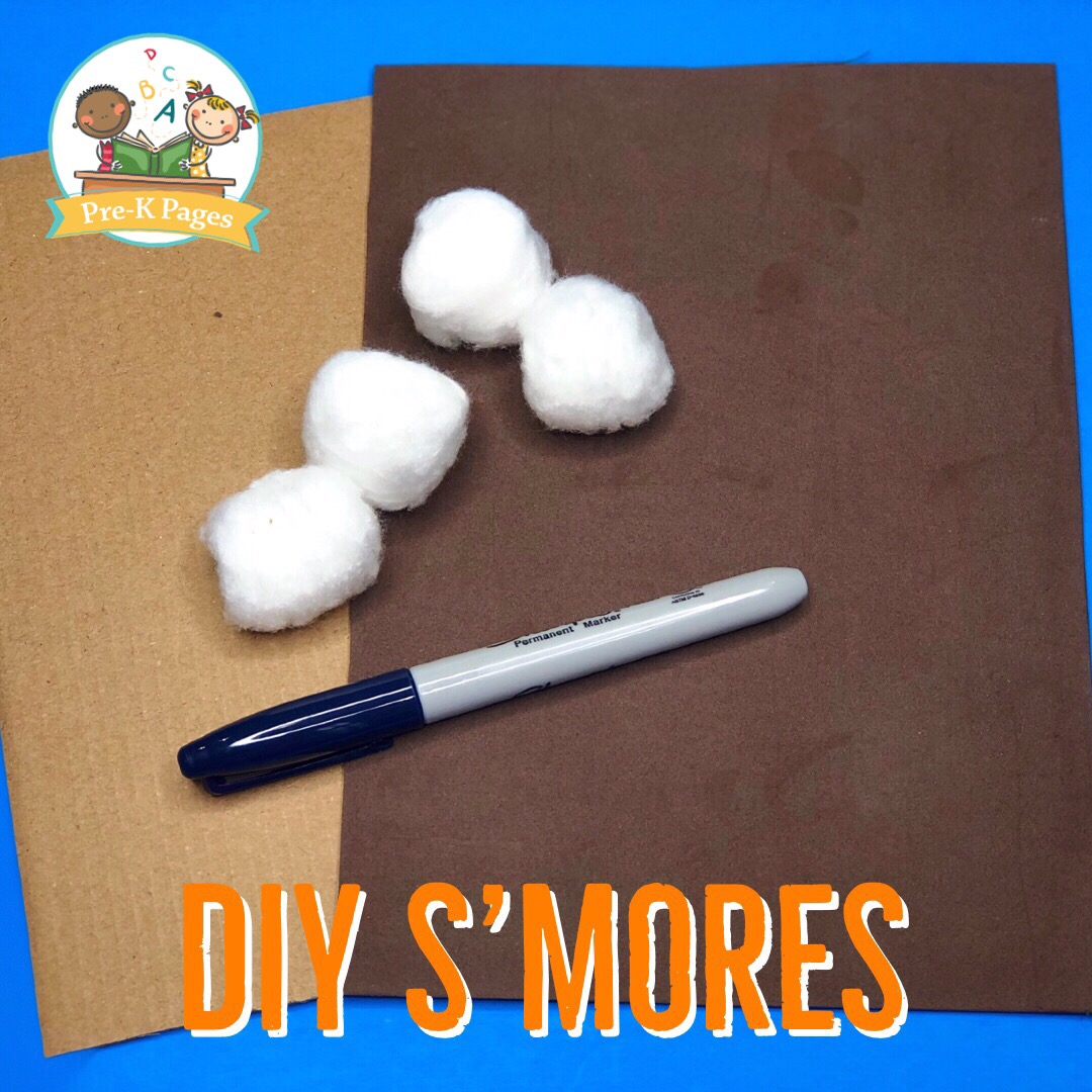 Smore Supplies for Camping Pretend Play